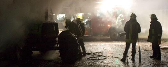 Bild: Traktorbrand auf dem Berghof in Eppelborn