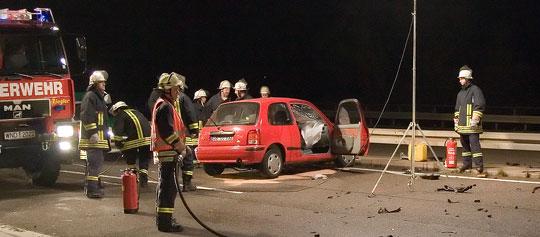 Bild: Geisterfahrerin verursacht schweren Verkehrsunfall auf der Autobahn A1
