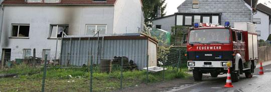 Bild: Hoher Sachschaden bei Wohnhausbrand in Bubach-Calmesweiler
