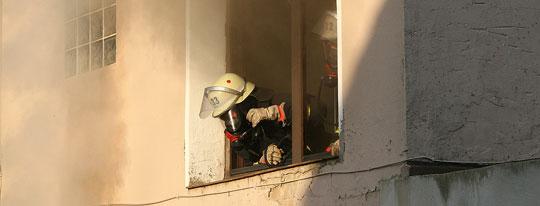 Bild: Großeinsatz der Feuerwehr in Wiesbach - Wohnhausbrand in der Eiweiler Straße