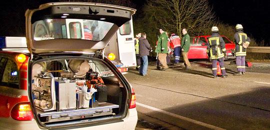 Bild: Verletzte und Sachschaden bei Verkehrsunfall am Bolzenberg