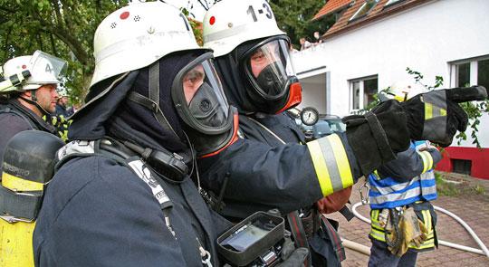 Bild: Kellerbrand in einem Haus in der Marienstraße