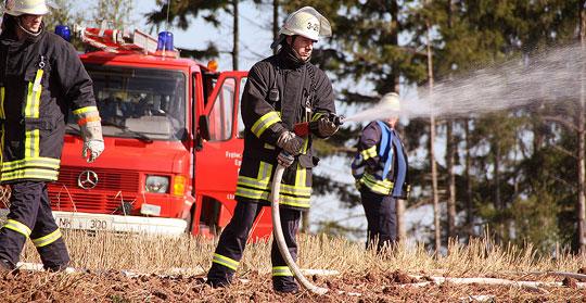Bild: Großbrand an der Kompostieranlage - Jahreshauptübung der Feuerwehr in Humes