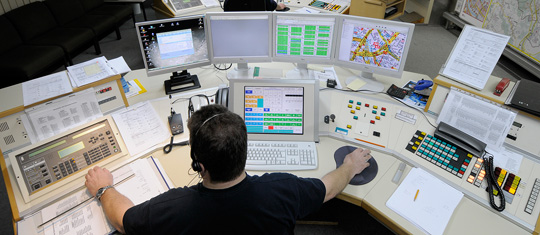 Bild: Richtfest der neuen Leitstelle für den Notruf 112