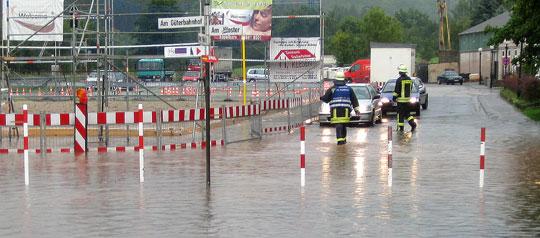 Bild: Land unter in Eppelborn - Zahlreiche Einsätze nach schwerem Unwetter