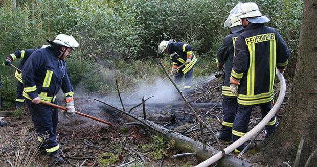 Bild: Feuerwehr verhindert Waldbrand im Dirminger Wald