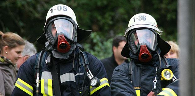 Bild: Auf den Ernstfall vorbereitet - Landkreisübergreifende Übung der Feuerwehr
