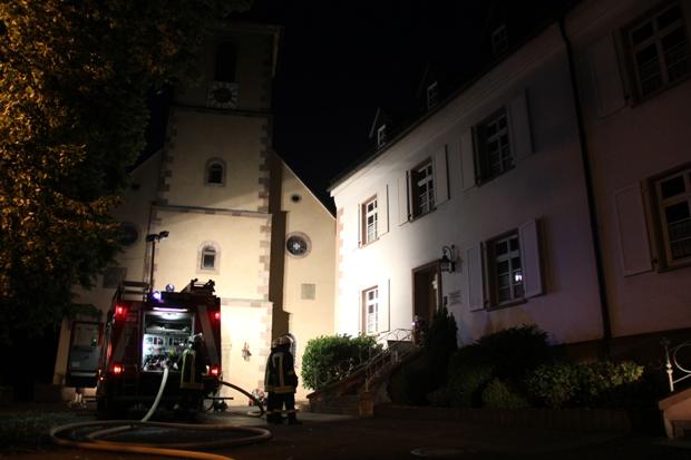 Bild: Brand am katholischen Pfarramt St. Sebastian