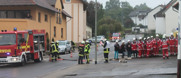 Bild: Hilfsorganisationen in Habach übten gemeinsam