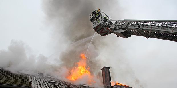Bild: Großbrand auf dem Birkenhof in Dirmingen