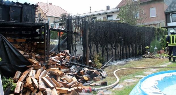 Bild: Thujahecke stand lichterloh in Flammen