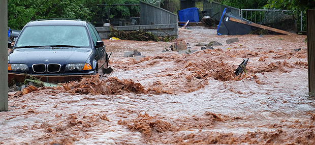Bild: Unwetter: Dramatische Szenen in Dirmingen