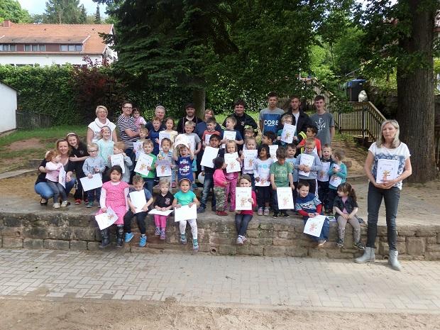 Bild: Brandschutzerziehung im Kindergarten Dirmingen