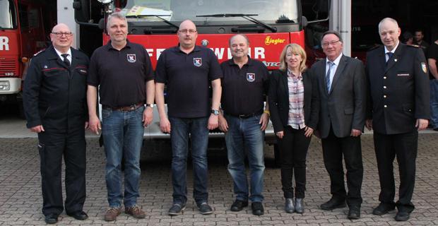 Bild: Neue Führung im Löschbezirk Eppelborn gewählt