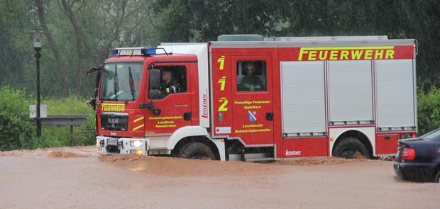 Bild: Starkregen verursachte große Schäden in der Gemeinde Eppelborn