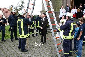 Feuerwehr Eppelborn Feuerwehrhochzeit Tobias Und Caroline Gaben